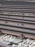 αυλή τραίνων σιδηροδρομικών γραμμών Στοκ Εικόνες
