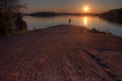 αυλακωμένος βράχος Στοκ Εικόνες