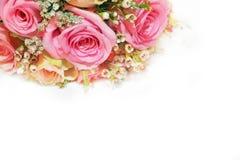 Αυξήθηκε άσπρο υπόβαθρο σχεδίου τέχνης λουλουδιών Στοκ φωτογραφία με δικαίωμα ελεύθερης χρήσης