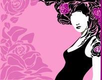 αυξήθηκε γυναίκα ελεύθερη απεικόνιση δικαιώματος