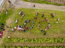 Αυξήθηκε εναέρια άποψη φεστιβάλ επιλογής Στοκ Εικόνες