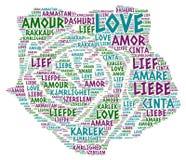 Αυξήθηκε επεξηγημένος με την αγάπη Word Στοκ εικόνα με δικαίωμα ελεύθερης χρήσης