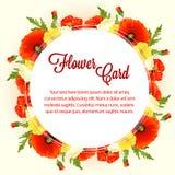 Αυξήθηκε κάρτα λουλουδιών διανυσματική απεικόνιση