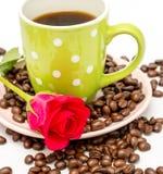 Αυξήθηκε και ο καφές σημαίνει την καφεΐνη Barista και παρασκευάζει στοκ φωτογραφίες με δικαίωμα ελεύθερης χρήσης