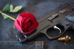 Αυξήθηκε και πυροβόλο όπλο Στοκ Φωτογραφίες