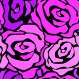 Αυξήθηκε λουλουδιών άνευ ραφής χεριών σχέδιο μελανιού τεχνών εκφραστικό διανυσματική απεικόνιση