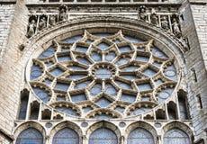Αυξήθηκε παράθυρο του καθεδρικού ναού του Chartres, Γαλλία Στοκ φωτογραφίες με δικαίωμα ελεύθερης χρήσης