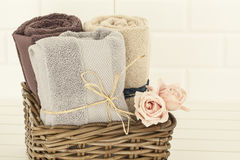 αυξήθηκε πετσέτες Στοκ Φωτογραφία