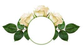 Αυξήθηκε ρύθμιση και πλαίσιο λουλουδιών Στοκ Εικόνα
