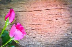 Αυξήθηκε στο ξύλινο υπόβαθρο, ημέρα βαλεντίνων στοκ φωτογραφία με δικαίωμα ελεύθερης χρήσης