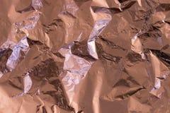 Αυξήθηκε χρυσό υπόβαθρο σύστασης φύλλων αλουμινίου στοκ φωτογραφίες