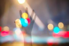 Αυξήστε το υπόβαθρο Bokeh χεριών αυτών Στοκ εικόνες με δικαίωμα ελεύθερης χρήσης