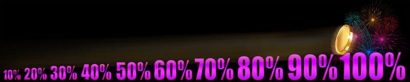 Αυξανόμενη επιχείρηση στα percents Στοκ φωτογραφίες με δικαίωμα ελεύθερης χρήσης