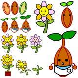 Αυξανόμενο διάνυσμα λουλουδιών ελεύθερη απεικόνιση δικαιώματος