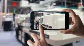 Αυξημένη έννοια πραγματικότητας AR Βιομηχανικά 4 στοκ εικόνες