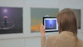 Αυξημένη ταμπλέτα πραγματικότητα app Στοκ φωτογραφίες με δικαίωμα ελεύθερης χρήσης