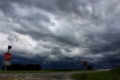 αυστηρό thunderstorm του Ιλλινόις Στοκ Φωτογραφίες