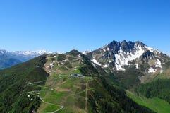 Αυστρία: Ανεμόπτερο γύρω από ` Spieljoch `, Hochfà ¼ GEN, Στοκ εικόνα με δικαίωμα ελεύθερης χρήσης