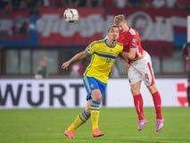 Αυστρία Βέλγιο εναντίον Σουηδία Στοκ Εικόνα