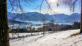 Αυστρία - Kathreinkogel κατά τη διάρκεια του χειμώνα στοκ φωτογραφία με δικαίωμα ελεύθερης χρήσης