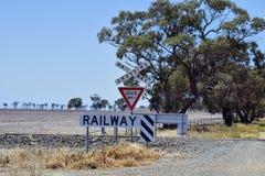 Αυστραλία, Βικτώρια, πέρασμα σιδηροδρόμων στοκ εικόνες με δικαίωμα ελεύθερης χρήσης