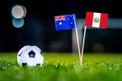 Αυστραλία - Περού, ομάδα Γ, Τρίτη, 26 Ποδόσφαιρο Ιουνίου, παγκόσμιο $cu στοκ εικόνες