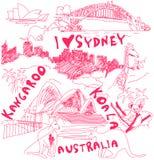 Αυστραλία doodles Στοκ φωτογραφία με δικαίωμα ελεύθερης χρήσης