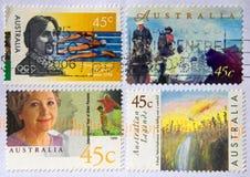 αυστραλιανά γραμματόσημα Στοκ Φωτογραφία