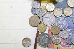 Αυστραλιανά νομίσματα στοκ φωτογραφίες