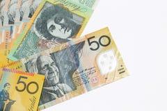 Αυστραλιανές σημειώσεις δολαρίων στοκ φωτογραφίες με δικαίωμα ελεύθερης χρήσης