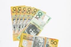Αυστραλιανές σημειώσεις δολαρίων στοκ φωτογραφίες