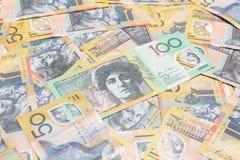 Αυστραλιανές σημειώσεις δολαρίων στοκ εικόνα με δικαίωμα ελεύθερης χρήσης