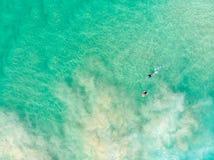 Αυστραλιανή ακτή με Surfers στοκ εικόνες