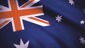 αυστραλιανή σημαία εθνική Σημαία του υποβάθρου της Αυστραλίας Στοκ Εικόνες