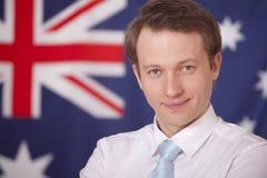 αυστραλιανή σημαία επιχ&epsilo Στοκ εικόνες με δικαίωμα ελεύθερης χρήσης