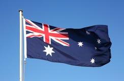 αυστραλιανή σημαία της Αυστραλίας Στοκ εικόνα με δικαίωμα ελεύθερης χρήσης