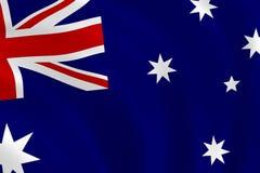 αυστραλιανή σημαία Στοκ Εικόνες