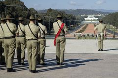αυστραλιανοί στρατιώτε&sig Στοκ Φωτογραφίες