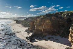 Αυστραλιανός απότομος βράχος Μελβούρνη ακτών στοκ φωτογραφία