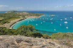 αυστραλιανό τοπίο Νησί σαυρών, ο μεγάλος σκόπελος εμποδίων, Queensland, Αυστραλία στοκ φωτογραφία