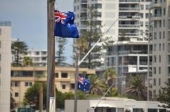 Αυστραλιανή σημαία στην παραλία Cronulla Στοκ φωτογραφίες με δικαίωμα ελεύθερης χρήσης