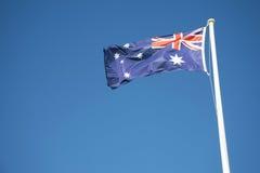 Αυστραλιανή σημαία υπαίθρια Στοκ εικόνες με δικαίωμα ελεύθερης χρήσης