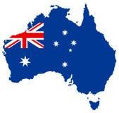αυστραλιανός χάρτης Στοκ Εικόνες