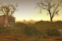 Αυστραλιανό αγρόκτημα θύελλας σκόνης Στοκ εικόνα με δικαίωμα ελεύθερης χρήσης