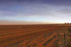 Αυστραλιανό αγρόκτημα θύελλας σκόνης Στοκ Εικόνα