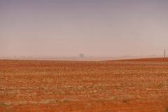 Αυστραλιανό αγρόκτημα θύελλας σκόνης Στοκ Φωτογραφίες
