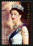 Αυστραλιανό γραμματόσημο βασίλισσας Elizabeth II Στοκ φωτογραφία με δικαίωμα ελεύθερης χρήσης