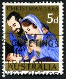 Αυστραλιανό γραμματόσημο Χριστουγέννων 1965 Στοκ Φωτογραφίες