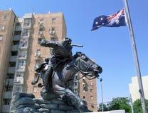 Αυστραλιανό μνημείο στρατιωτών σε Beersheba, Ισραήλ στοκ φωτογραφία
