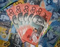 αυστραλιανό νόμισμα ανασκόπησης Στοκ φωτογραφία με δικαίωμα ελεύθερης χρήσης